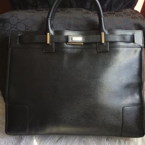Gucci Black Leather Tote 🔥 sale! Price Firm!